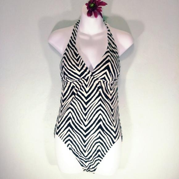 af5fb9e75a64f Talbots Swim | Zebra Black White One Piece Suit | Poshmark